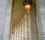 Hall of columns in Vatican square