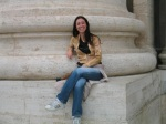 Me sitting by Vatican column